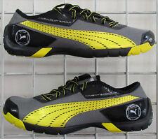 Men's Puma Future Cat Super LT Sneakers, New Black Yellow Mesh Running Shoes 12