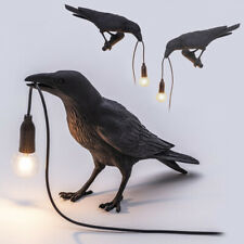 Indoor LED Bird Table Lamp Crow Decor Home Bedroom Office Landscape Light