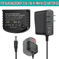 9.6V-18V Battery Charger for Black&Decker HPB18 FSB18 12V 14.4V 18V NiCd NiMh