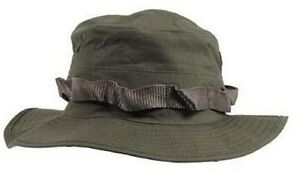 US ARMY RIPSTOP COMBAT BOONIE HATS FISHING JUNGLE SUN OLIVE MILITARY GREEN