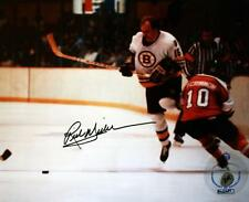 "(#425) Rick Middleton Boston Bruins Signed 8X10 Picture ""Jumping over Flyer"""