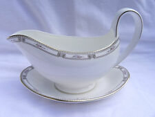 Wedgwood COLCHESTER GRAVY SAUCE BOAT & SAUCER. Excellent.