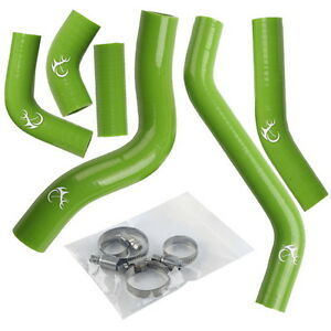 Silicone Green Radiator Cooler Hose Kit Fit For Kawasaki KLX450F 08-12 2009 6pcs