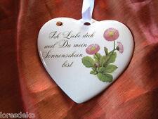 Herz - Porzellan - Muttertag - Hochzeit - Dekoration