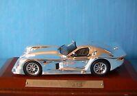 PANOZ ESPERANTE GTR-1 1998 CHROME IXO 1/43 WOODEN BASE