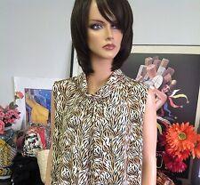Dress Barn Leopard Sleeveless Top Turtle Neck Size 18/20 Designer Fashion
