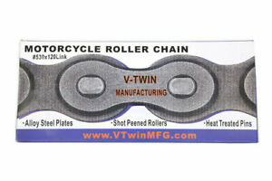 120 x 530 O-Ring Nickel Chain for Harley Davidson by V-Twin
