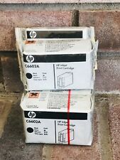 PACK OF 5 HP C6602A BLACK INKJET PRINT CARTRIDGE Sealed Ink