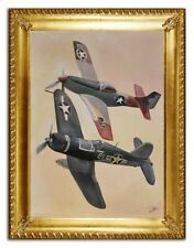 US Bomber Flugzeug Bild Gemälde WWII Bilder Flugzeuge Kampf Jets Handarbeit