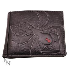 WALLET BLACK WIDOW SPIDIDER FOLDING VISA CARDS (not leather) LEATHERETTE NEW
