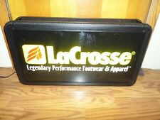 """LaCrosse Performance Footwear Advertising Lighted Sign 27""""x15""""x6"""""""