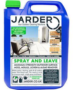 Patio Decking Fence Drive Cleaner Algae Moss Mould Killer Spray & Leave Jarder