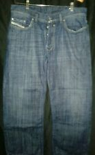 Diesel Industry QURATT Italian Button Fly Denim Jeans Men's 34 X 30 NICE & CLEAN