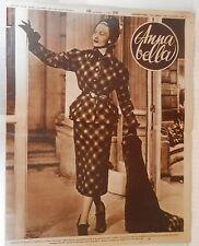 ANNA BELLA 1949 Desses Tailleur Roland Pertwee Palto senza pelliccia Abiti neve
