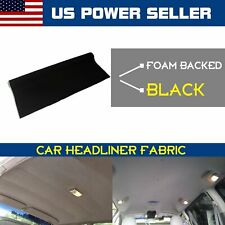 5FT Wide x 1Yard Car Auto Boat Ceiling Headlining Upholstery Fabric Foam Backed