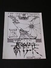 BEGGARS Punk Rock Handbill at the GROG San Francisco