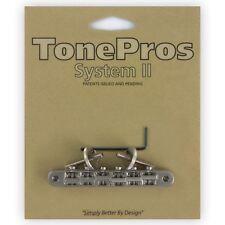 TonePros Tune-o-Matic ponte chitarra abr-1 per Gibson Les Paul-Nichel