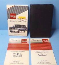 91 1991 GMC Suburban/V-Jimmy/Bonus/Crew Cabs owners manual
