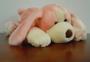 """Animal Alley Pink Darby Dog Plush Puppy Dog 18"""" Cream Toys R Us Soft Toy Laying"""