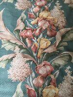 "Large Vintage Bark Cloth Fabric Panel - 80"" X 41"""