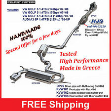 Exhaust System Sport Golf 5 - Audi A3 8P with HJS catalytic euro4