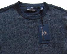 Men's HART SCHAFFNER MARX Gray Geometric CASHMERE Sweater M Medium NWT $295