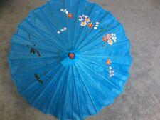 Turquoise Bamboo Chinese dance sun umbrella