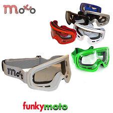 MOTO X1 MX MOTORRADBRILLE ERWACHSENE MOTOCROSS BMX QUAD SKI MOTORRAD BRILLE WEIß