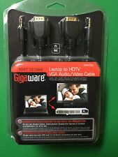 Gigaware 2603153 Laptop to Hdtv Vga Audio/Video Cable