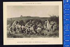 Mass for Dead at Morbihan - Charles Coessin 1890 Litho