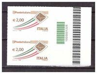 13119) Italia MNH 2009 Correo Ordinario 1v (x2) - Códigos En Barras 1225