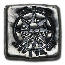 1 oz Silver Square - MK Barz & Bullion (Pirate Compass) - SKU #103101