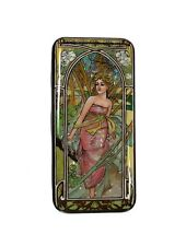 Russian Lacquer Box painted over Mother of Pearl ART NOUVEAU #3900