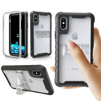 Shockproof Hybrid Bumper Armor Stand Case Cover For iPhone XR XS MAX 8 7 6 Plus