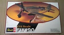 Revell Focke-Wulf Fw 190A 1/72 scale 1978 boxed/unmade kit of Luftwaffe fighter
