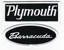 PLYMOUTH BARRACUDA SEW/IRON ON PATCH EMBROIDERED MOPAR  HEMI 440 MAGNUM