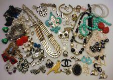 Mixed Jewelry Box Lot Vintage to Modern Wear / Repair Rhinestone & Fashion #3