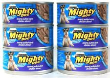 6 Cans Purina 5.5 Oz Mighty Dog Hearty Pulled Style chicken Dinner In Gravy