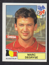 Panini - USA 94 World Cup - # 390 Marc Degryse - Belgique (Black Back)