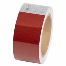 """2"""" X 30' Reflective Safety Tape Dot C2 Red White"""