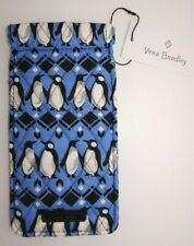 NWT Vera Bradley Sunglass Sleeve PLAYFUL PENGUINS INTARSIA BLUE eyeglass case