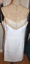 LILLY PULITZER   Pearl Shift Dress  RESORT WHITE Metallic Bust   Sz 14  NWT $198