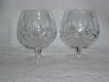 Pair of Waterford Crystal Lismore Brandy Glass Snifter 5 1/8""