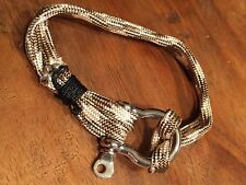 men's rope bracelets stainless steel clip