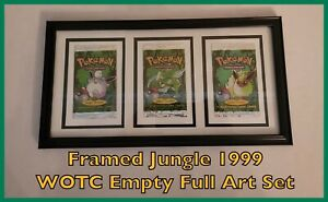 Framed Pokemon Jungle Full Complete Empty Booster Pack Set - WOTC Vintage Art 99