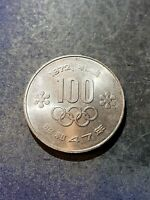 JAPAN 100 YEN COIN 1972 OLYMPICS KM.Y84 UNCIRCULATED