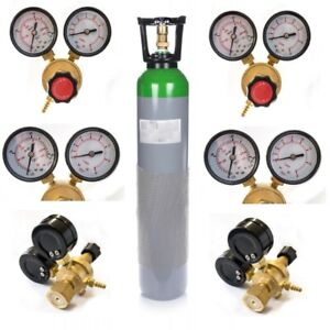 Ar/CO2 mix MIG TIG Gas Cylinder Full Bottle 8L 150~180 Bar Reusable Welding Weld