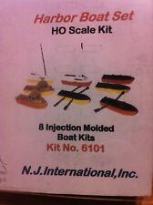 New Jersey International HO Scale 6101 Harbor Boat Building Kit (8 Pcs Pkg)
