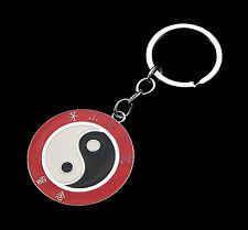 Porte-clés clef Yin Yang Medaille Feng Shui en metal - 25236