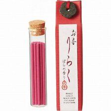 """Japanese Incense Daiko RIRAKU """"Bara"""" Rose 80mm 15 Sticks with Holder from JAPAN"""